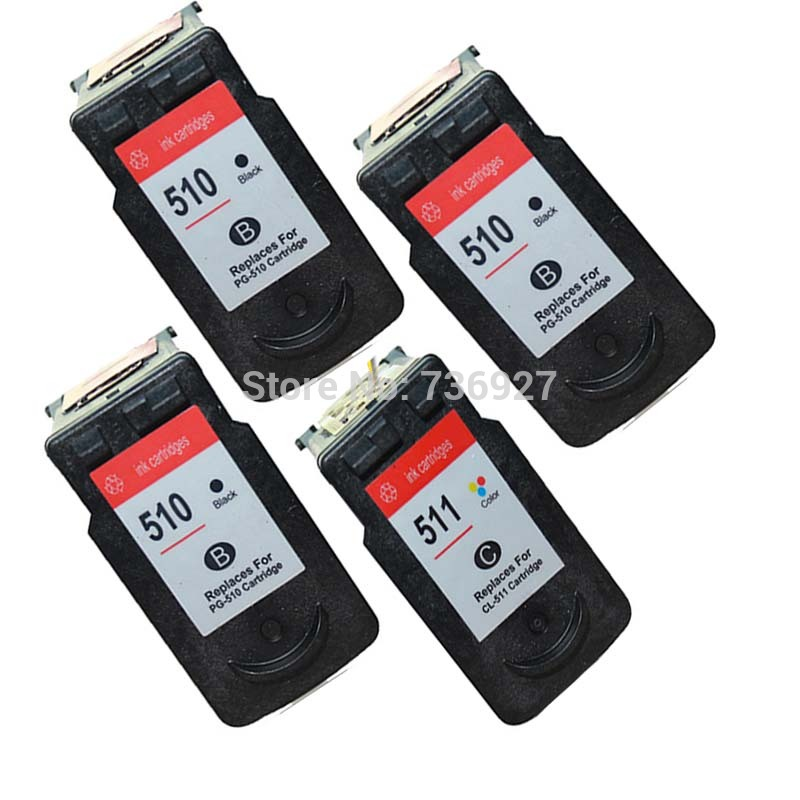 3BK 1C Compatible Ink Cartridge For Canon PG 510 CL 511 PG510 CL511 MP270 MP280 MP480 MP490 MX350 MP240 IP2700 Printer