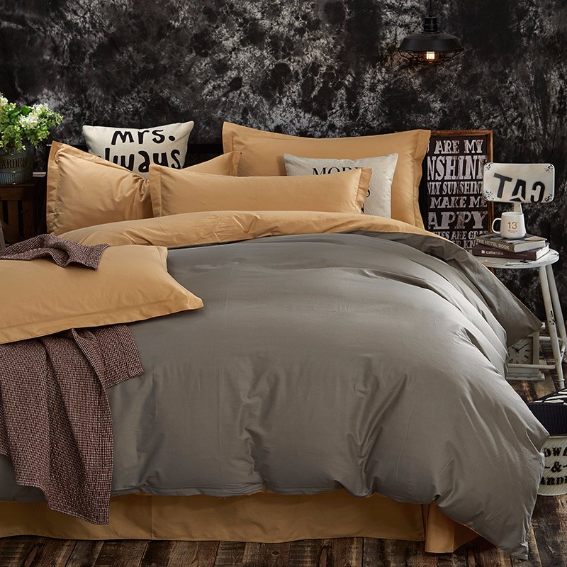 100% Cotton Black Red Color King, Queen, Twin, Size Bedding Set, Solid Color Duvet Cover Set, Bed sheet /Fitted Sheet, Pillowcases 46