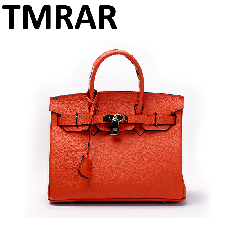 2018 New classic large tote with lock lady messenger bags genuine leather handbags women shoulder bag for female bolsas qn048 2017 new classic casual scrub tote lady genuine leather handbags popular women fashion shoulder bags easy matching bolsas qn027