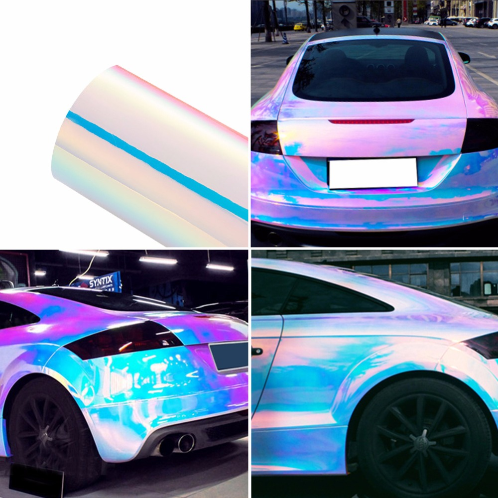 Pearl White Glossy Color DIY Car Stickers Car Body Films Vinyl Car Wrap Sticker Decal Air Release Film 600mmx1520mm glossy yellow vinyl auto car styling car and motorcycle sticker vinyl wrap film air release sticker decal sheet