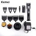 Kemei 220 v 3 en 1 titanium cuchilla cortadora de cabello profesional herramientas de precisión sin cuerda eléctrico hairclipper cortador de pelo para los hombres ue