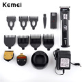 Kemei 220V 3 IN 1 Titanium Blade Professional Hair Clipper Electric Tools Precision Cordless Hair Trimmer Hairclipper for Men EU
