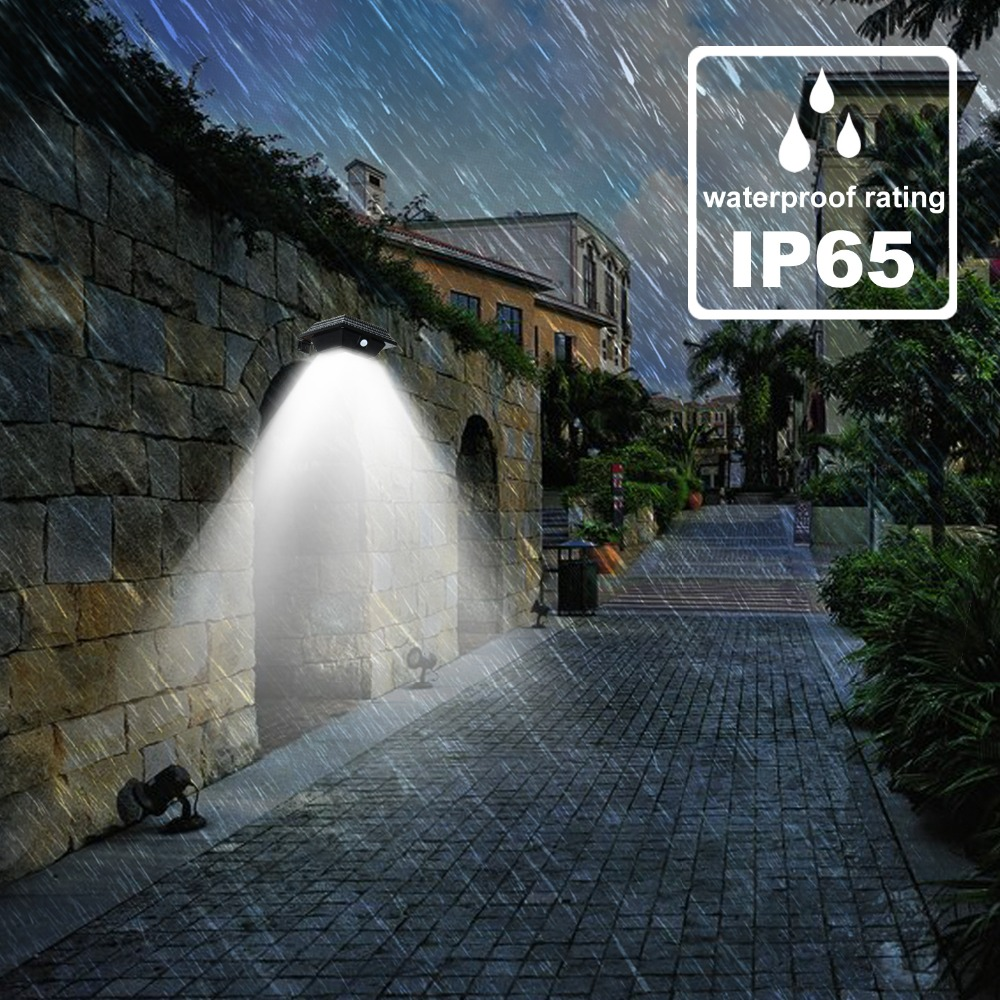 T-SUNRISE Roofing Tile Shape Solar Spotlight Solar Gutter Lights PIR Motion Sensor Light Outdoor Lighting Garden Security Lamp