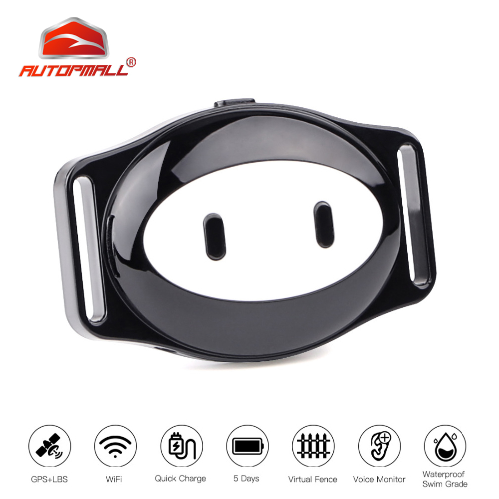 Pet GPS Tracker Dog Collar GPS For Cat GPS Collar D79 Waterproof IP68 Realtime Tracking Device Geofence WiFi LBS Locate Free APP GPS Trackers     - title=