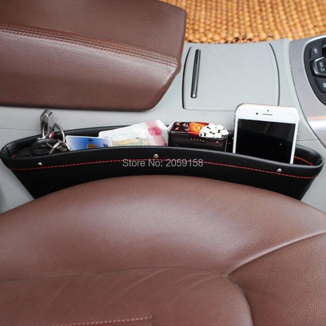 Car Seat Gap Pocket Catcher Organizer Storage Box FOR Mercedes W205 Tiguan Mitsubishi Pajero Honda