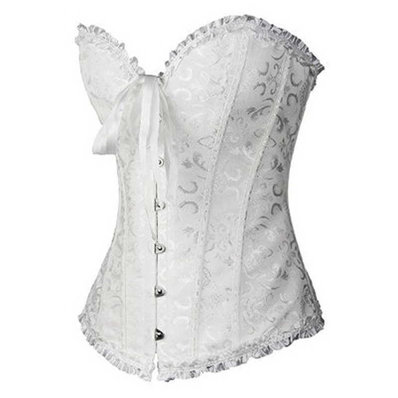 HTB1FzWzKXOWBuNjy0Fiq6xFxVXam X Sexy Women steampunk clothing gothic Plus Size Corsets Lace Up boned Overbust Bustier Waist Cincher Body shaper corselet S 6XL