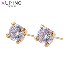 Xuping Fashion Earring New Design Gold Color Plated Jewelry Wedding Stud Earrings for Women Special Christmas Gift 201607