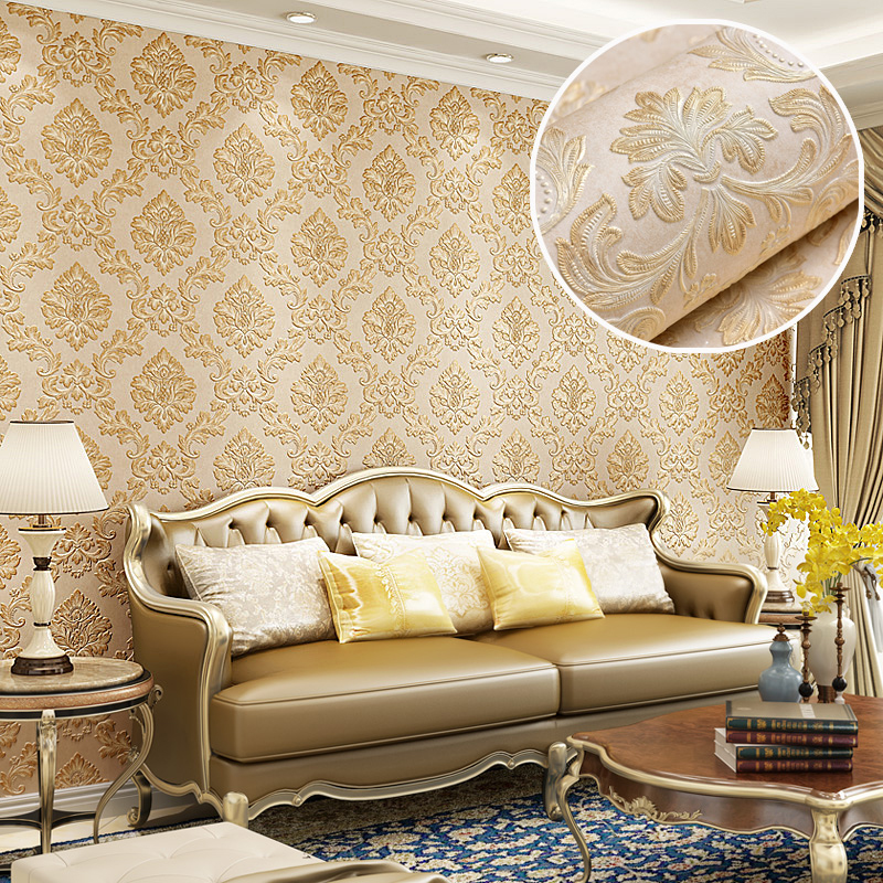 European Style 3D Non-woven Deep Embossed Wall Papers For Living Room Bedroom TV Background Home Decor Wallpaper For Walls Roll milan classical wall papers home decor non woven wallpaper roll embossed simple light color living room wallpapers wall mural