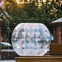 Дети и взрослые надувные зорбинг 1,2 м/3.93ft бампер из ПВХ футбол Bubble вечерние Y