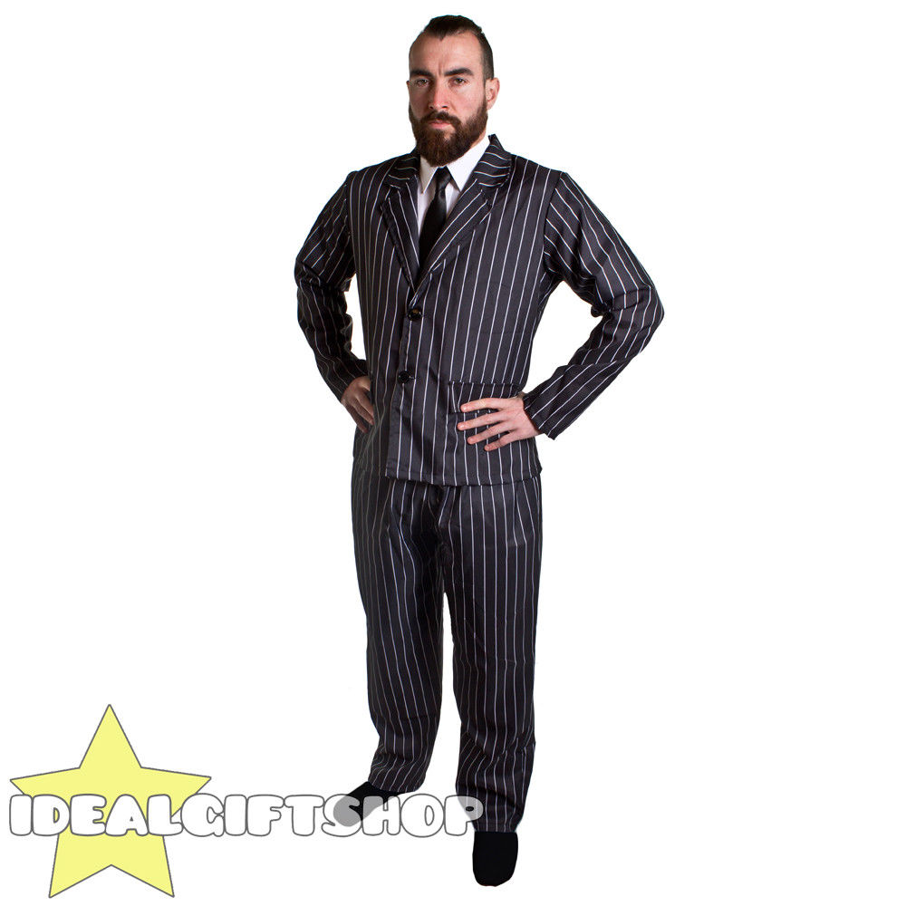 Mens 20/'s 30/'s Gangster Al Capone Stag Bugsy Fancy Dress Costume Accessories