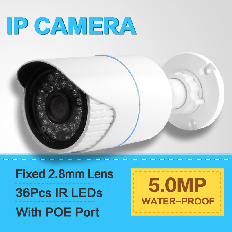 1 8 SONY IMX178 Network Bullet Outdoor IP Camera POE 5MP Waterproof IP66 Full HD 5MP
