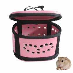Переноска для хомяков для карликового хомяка Портативный Путешествия Перевозчик розовый Безопасный Удобный Путешествия окружающей среды