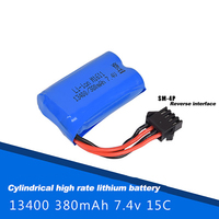 7.4v/380mAh 13400 power rechargeable lithium battery, double eagle E561 excavator remote control car toy