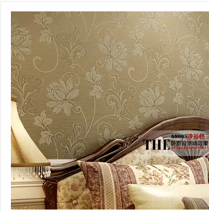 3D Papel De Parede Flower Wallpaper Modern Thick Floral Wall Paper Non-woven Water Wash TV Background Wall Vintage Home Decor 3d modern wallpapers home decor flower wallpaper 3d non woven wall paper roll bird trees wallpaper decorative bedroom wall paper