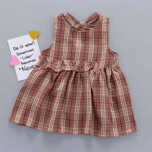 Cheques de 2019 Nova Moda de Verão Criança Crianças Bebê Menina Vestido de Festa Vestido de Verão Roupa roupas Folha de Lótus Borda Girls'Clothing