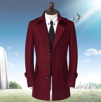 Black grey casual long sleeve wool coat men 2016 jackets and coats mens medium-long wool overcoats dress winter trench S – 9XL