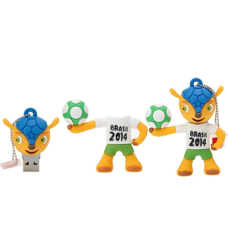 Image 4 - Memory Stick Brazil World Cup Mascot Cartoon USB Flash Drive 4GB 8GB 16GB 32GB 64GB Pen Drive 128GB Usb 2.0 Pendrive Thumbdrives-in USB Flash Drives from Computer & Office