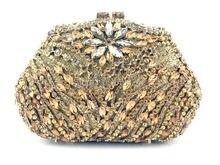 Freies verschiffen!! Z15-4, gold farbe mode top kristallsteinen ring handtaschen für damen nette parteibeutel
