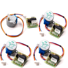 купить 2015 Hot Sale High Quality 5PCS 5V DC Stepper Motor 28BYJ-48 With Drive Test Module Board ULN2003 5 Line 4 Phase Free shipping в интернет-магазине