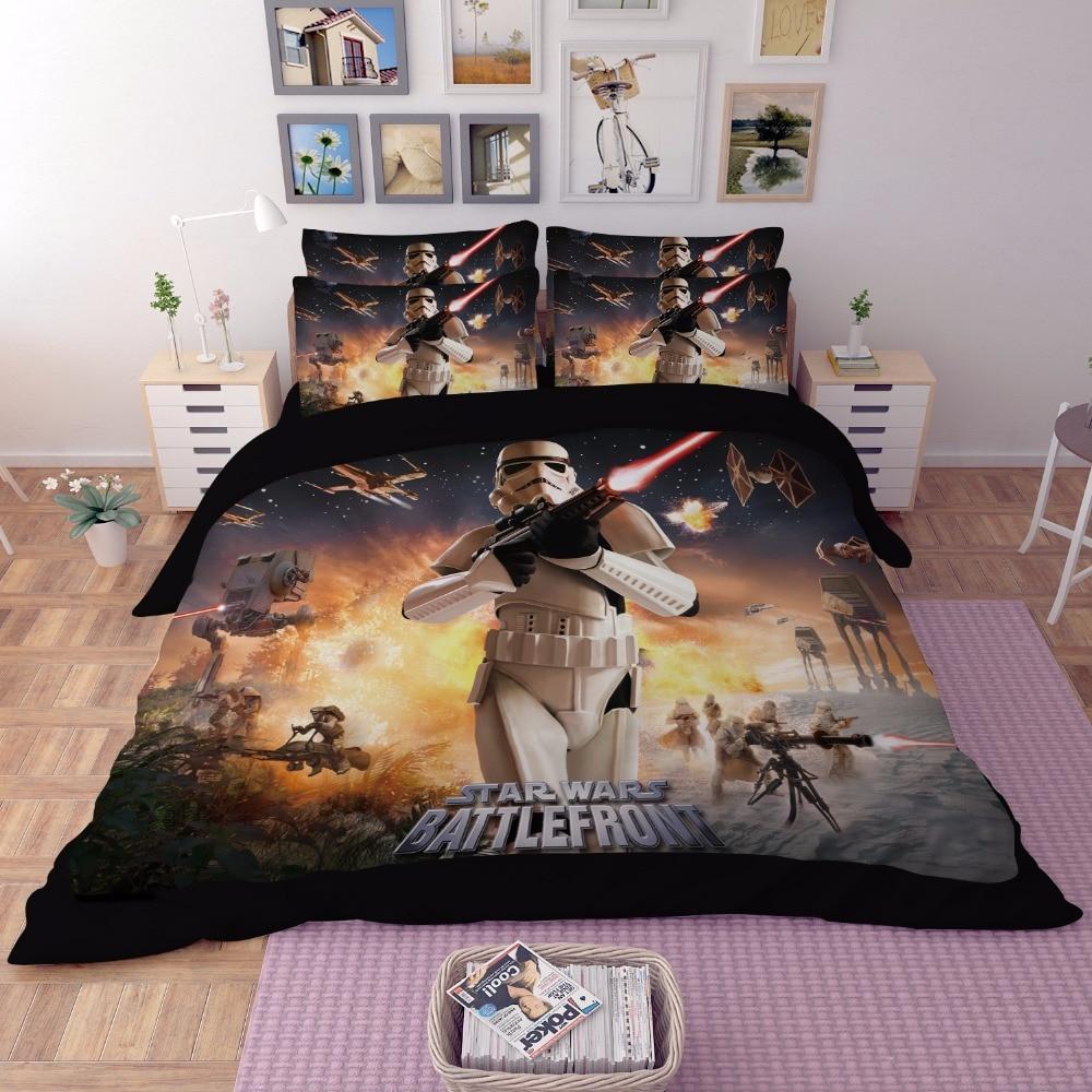 3D Star Wars literie seul plein Reine King size stormtrooper coton couette couverture secrète classique film Fantôme taie d'oreiller