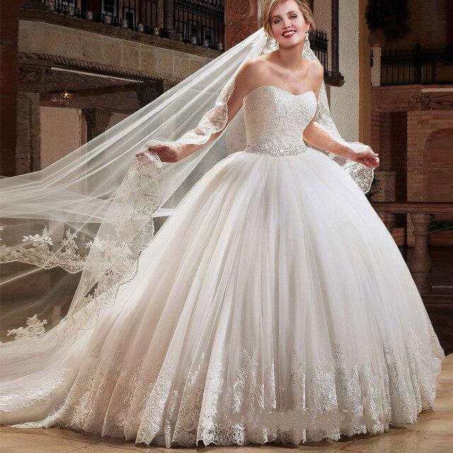 vestido de novia de bola del amor del vestido de boda con crystal