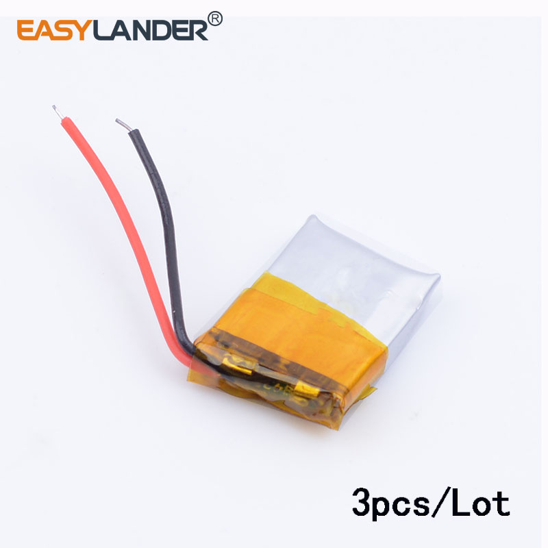3pcs/Lot 401215 <font><b>50MAH</b></font> <font><b>3.7V</b></font> polymer lithium <font><b>battery</b></font> For MP3 MP4 Bluetooth headset small toy sound Bluetooth Headset 3D glasses image