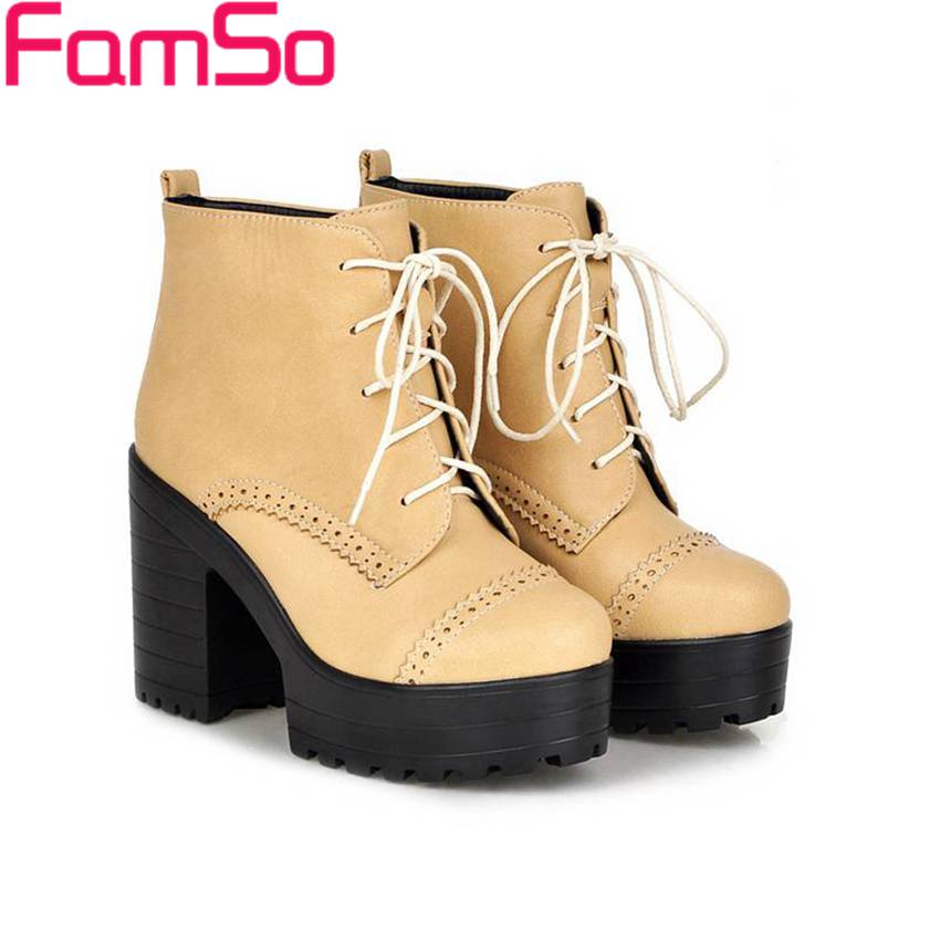 Plus Size34 43 2016 new Sexy font b Women b font Boots Autumn platforms Pumps High