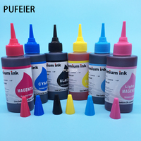 100ML X 6PCS T0801 T0802 T0803 T0804 T0805 T0806 Refill Dye Ink For Epson P50 PX820FWD