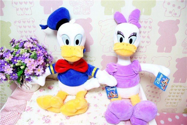 Free Shipping 2Styles 1PCS 30CM Cute Donald Duck Daisy Duck Toys Soft Plush Donald Daisy For