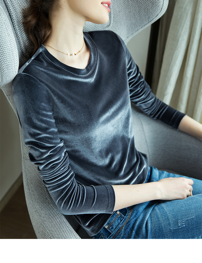 Fashion Women Striped Splicing Tshirt 2018 Baseball Spring Autumn O Neck Long Sleeve Tees All Matched Sequined Pocket T Shirt