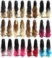 """Пластиковые коготь хвостик волнистые фигурные европейский ломбер два тона шиньоны синтетического наращивания волос 12 цветов доступны 22 """", 170 г 1 шт."""