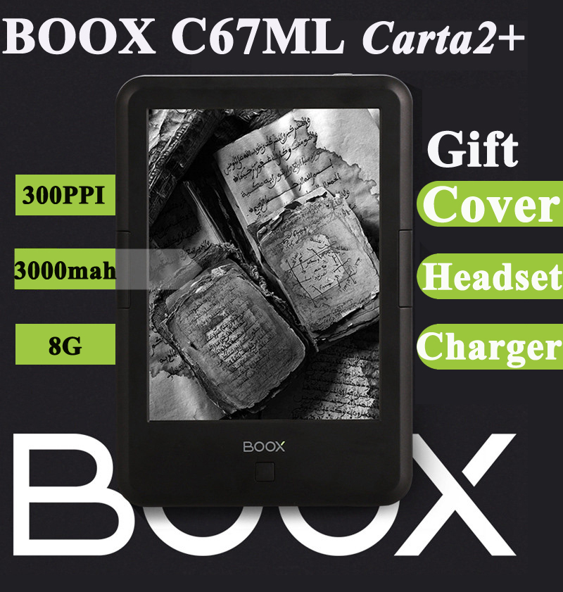 New ONYX BOOX C67ML Carta2+ ebook reader touch eink screen 3000mAh 8G 300PPI WIF Android4.22 pocket books e book gift pu cover ...
