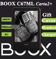 Origianl ONYX BOOX C67ML Carta2+ ebook reader 3000mAh touch eink screen 8G 300DPI WIFI Android4.22 pocket books gift pu cover