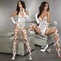 Sexy lingerie Roupa Interior Branco Do Laço roupa de dormir de renda teddie Vestido 11461 Um Tamanho