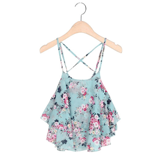 7067efa03aa Sexy Print Chiffon Sleeveless Women Camis Cropped Ladies Spaghetti Strap  Crop Tank Top Flower Floral Blouse 2016 Fashion Summer on Aliexpress.com |  Alibaba ...