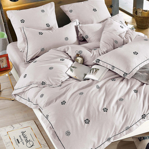 Image 2 - Alanna Solid Sweet style Little red Heart Flower Plant leaves and animals Printed 4/7pcs Bedding set with Different Color