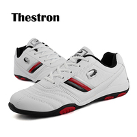 Thestron New White Men`s Casual Shoes Hot Sale Rubber Sole Leather Spring Autumn Shoes Male Non Slip Waterproof Shoes Adult