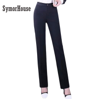 Quality OL Style Brand New Formal Pants Women Work Wear Office Career Slim Long Straight Suit