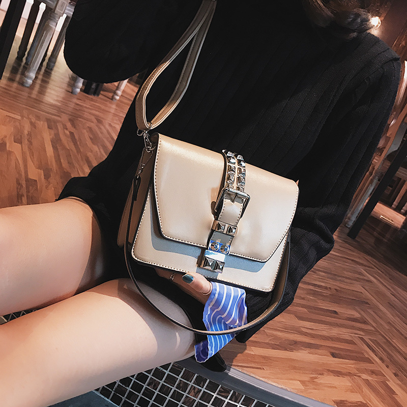 TINTON Brand Fashion Women Messenger Bags Rivet Purses And Handbags PU Leather Shoulder Bag Mini Flap Crossbody Bags For Women new women genuine leather handbags shoulder messenger bag fashion flap bags women first layer of leather crossbody bags