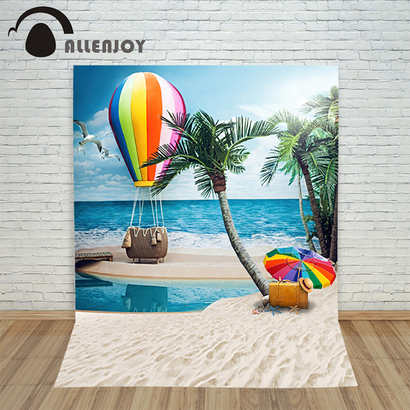 Fashion beach sea wedding photography background hot air balloon sunbathing Romantic photo backdrops Custom size 6 5ft diameter inflatable beach ball helium balloon for advertisement