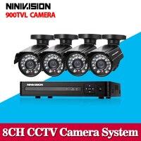 4channel Cctv DVR 1080p 4ch 960H Recording Dvr 4pcs IR 800tvl Outdoor Security Camera System Cctv