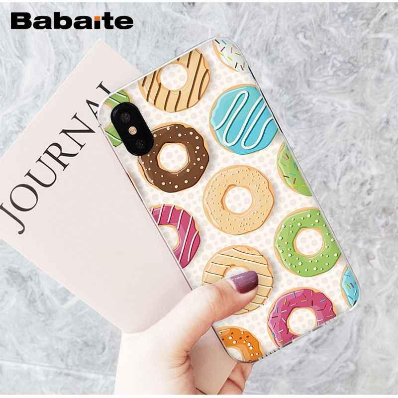 Babaite saboroso copo bolo donut sobremesa coração transparente caso do telefone capa para apple iphone 8 7 6 s plus x xs max 5 5S se xr capa