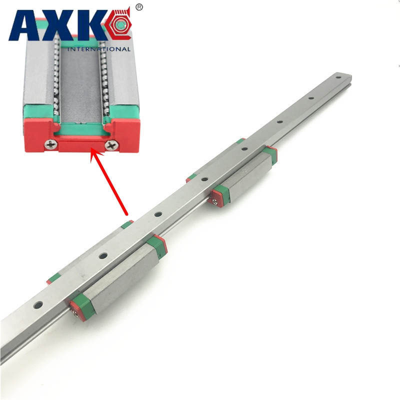 2018 Real Axk Cnc Router Parts Linear Rail New Miniature Linear Guide Mgn7 L 200mm Guideway + 2pcs Mgn7h Long Blocks Carriage linear guide motion reasonable price guideway rail toothed belt drive for laser machine mechanical parts
