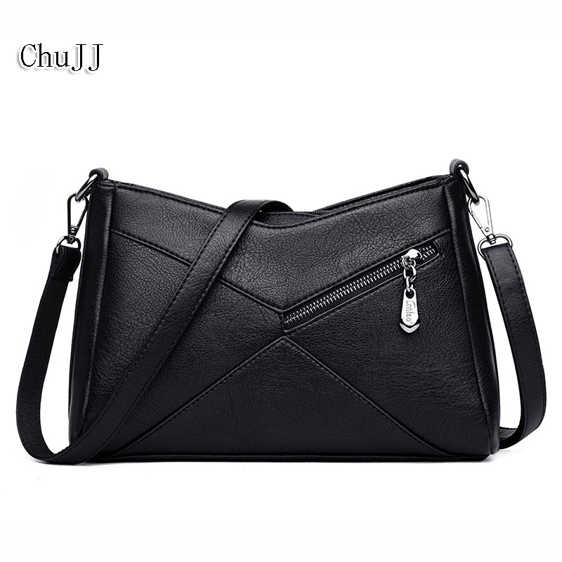 Chu JJ Hot Sale Women's Genuine Leather Handbags Patchwork Shoulder CrossBody Bags Ladies Tote Bag Women Bags Bolsas Feminina