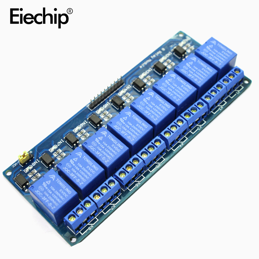 hight resolution of 8 channel 8 channel relay control panel plc relay 5v module for arduino hot sale in stock 8 road 5v relay module