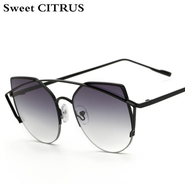 Cat eye Women Luxury vintage Sunglasses