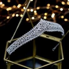 Asnora Wunderschöne Kristalle Prinzessin tiara nupcial Braut Tiaras Hochzeit Haar Zubehör coroa de noiva