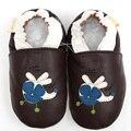 GSCH Avião Meninas Primeiro Walkers Suave Sole Bebê Sapatos de Couro Genuíno Mocassins Bebê Sapatos Menino Infantil Do Bebê Não-slip chinelos 0-4y