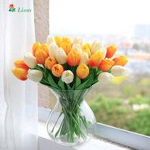 28 шт. искусственная ветка с цветами Тюльпан для украшения дома низкая цена высокое качество подарок на день Святого Валентина гостиная свадебный букет