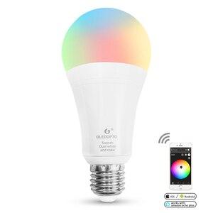 GLEDOPTO LED ZIGBEE 12W RGB+CCT LED bulb AC100-240V RGBCCT dual white Smart LED bulb dimmable lamp work with alexa many gateways